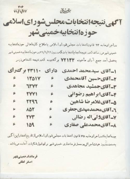 انتخابات دورچهارم مجلس شورای اسلامی